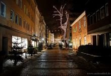 City centre of Kiel before christmas