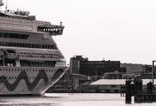 ... leaving port of kiel ...