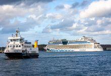 ... AIDAluna leaving port ...