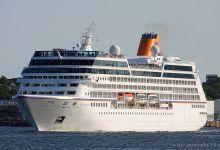 """Columbus 2"" leaving Port of Kiel at 21.07.2013."
