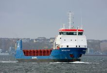 Abis Belfast (General Cargo Ship, 89m x 14m, IMO:9544891) captured 03.11.2013