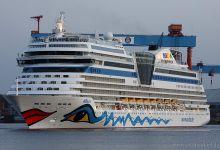 """AIDAsol"" captured before christening - Port of Kiel - 09.04.2011"