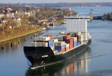 Barmbek (Container Ship, 169m x 27m, IMO:9313228) captured 23.11.2013