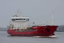 Bomar Mercury (Chemical & Oil Products Tanker, 120m x 17m, IMO:9428889) captured 16.11.2013