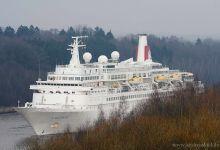 the last cruise ship 2013 @ Kiel-Canal