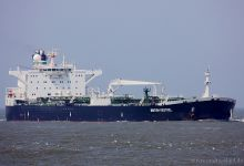 British Kestrel (Crude Oil Tanker, 251m x 44m, IMO:9297357) captured 06.06.2013