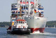 ... Leaving locks of Kiel-Holtenau ...