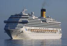 Costa Pacifica inbound Port of Kiel at 01.05.2013.
