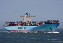 Eleonora Maersk (Container Ship, 398m x 56m, IMO:9321500) captured 04.06.2011.