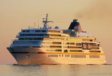 Europa inbound Port of Kiel early morning 22.07.2013.