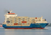 Hanse Confidence (Container Ship, 140m x 23m, IMO:9318761) captured 12.06.2013