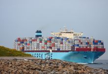 Maersk Elba (Container Ship, 366m x 48m, IMO:9458078) captured 17.08.2012.