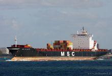 MSC Atlantic (Container Ship, 237m x 32m, IMO:8913447) captured 29.09.2012