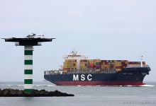 MSC Luisa (Container Ship, 300m x 40m, IMO:9225677) captured 30.06.2012.
