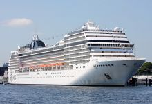 """MSC Musica"" moored Cruise Terminal Kiel at 07.07.2013."