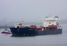 Navion Scandia (Crude Oil Tanker, 265m x 42m, IMO:9168934) captured 16.11.2013