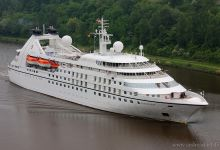 """Seabourn Pride"" captured on Kiel-Canal at 01.06.2013."