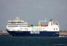Seatruck Progress (Ro/Ro Cargo, 142m x 24m, IMO:9506203) captured 29.09.2012.