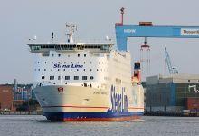 Stena Germanica (Ro/Ro Passenger Ferry, 240m x 29m, IMO:9145176) captured 22.08.2013