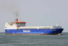 Stena Transfer - beached Alang 03/2012 -