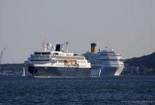 Minerva & Costa Pacifica outbound Port of Kiel 24.05.2012.