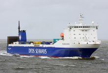 Finlandia Seaways (Ro/Ro Cargo, 162m x 20m, IMO:9198721) captured Cuxhaven 31.08.2013