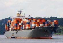Pusan - (new: MSC Navengantes) (Container Ship, 294m x 32m, IMO:9139488) captured Finkenwerder 08.06.2012